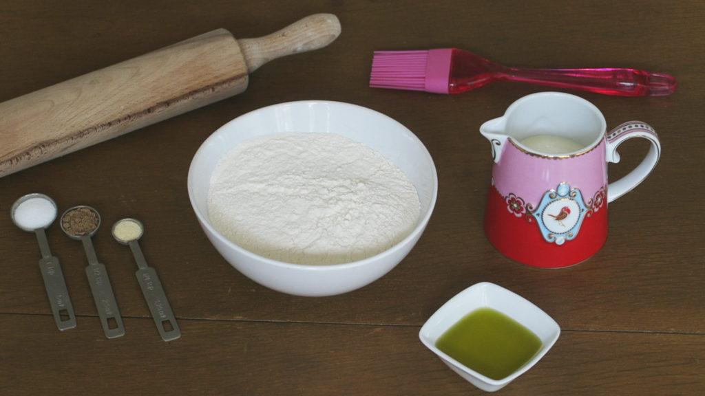 Vegan naanbrood ingrediënten