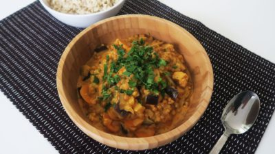 Vegan kokos- linzencurry recept