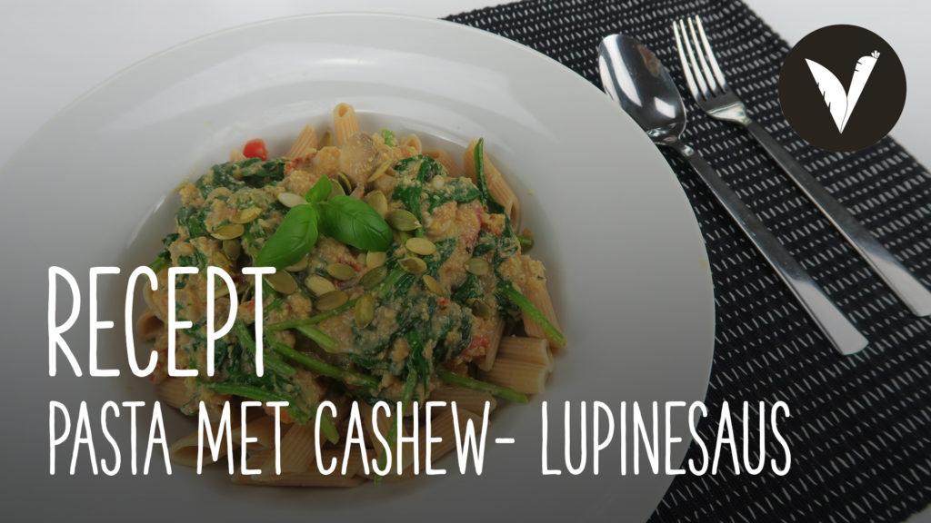 Video Pasta met cashew- lupinesaus