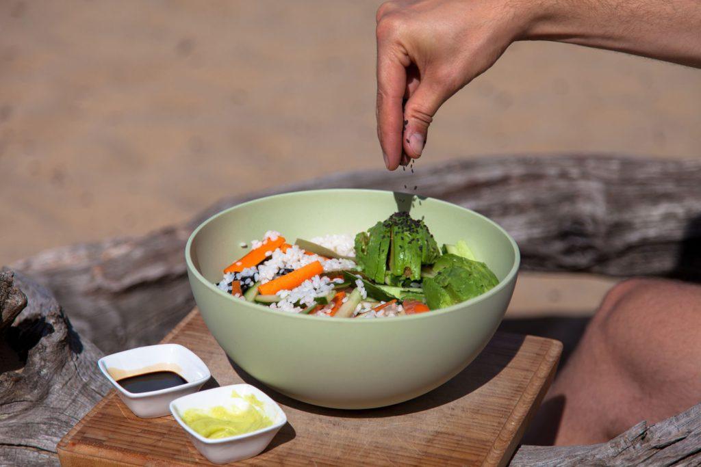 Sushi salade video