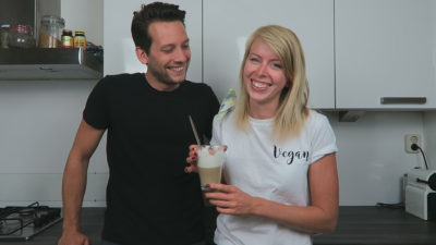 Vegan latte macchiato maken