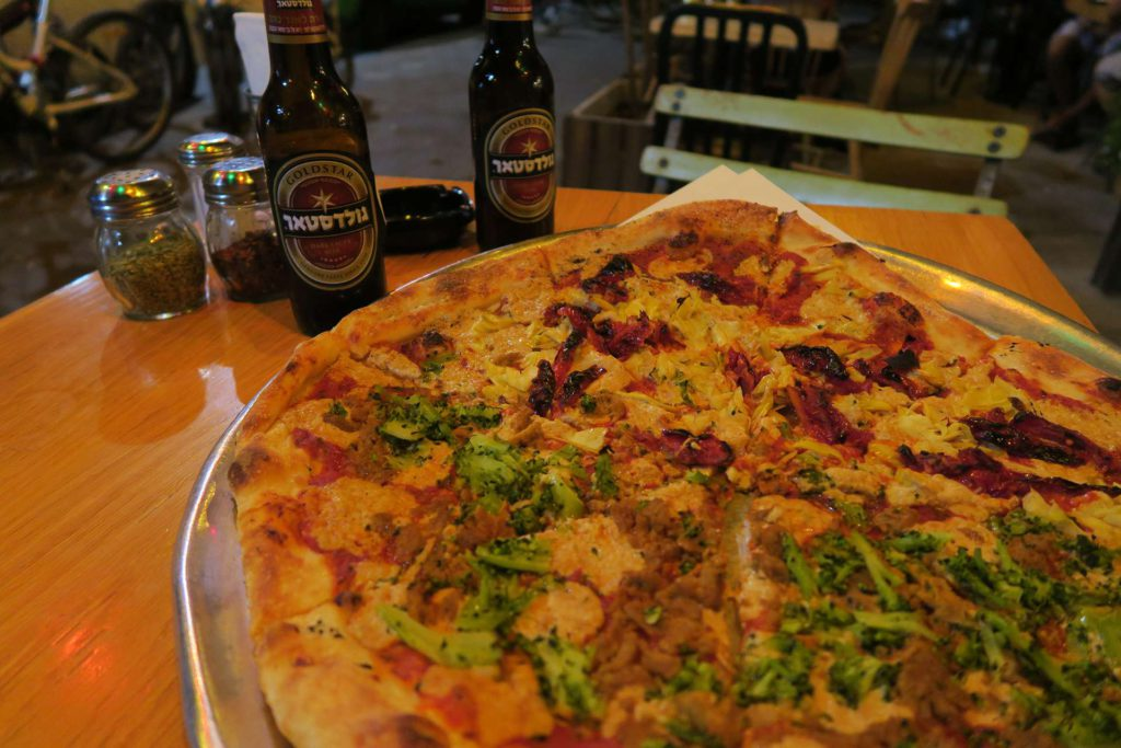 The Green Cat - Vegan Pizza - Vegan Hotspots Tel Aviv