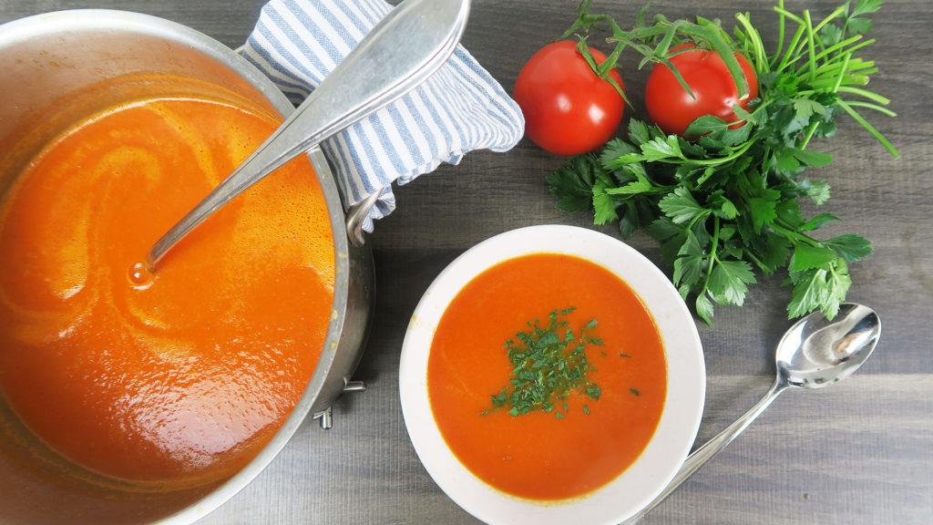 Paprika-tomatensoep recept