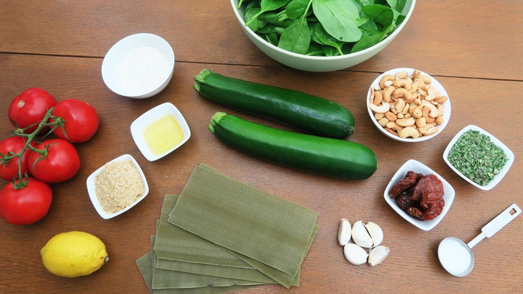 Vegan lasagne ingrediënten