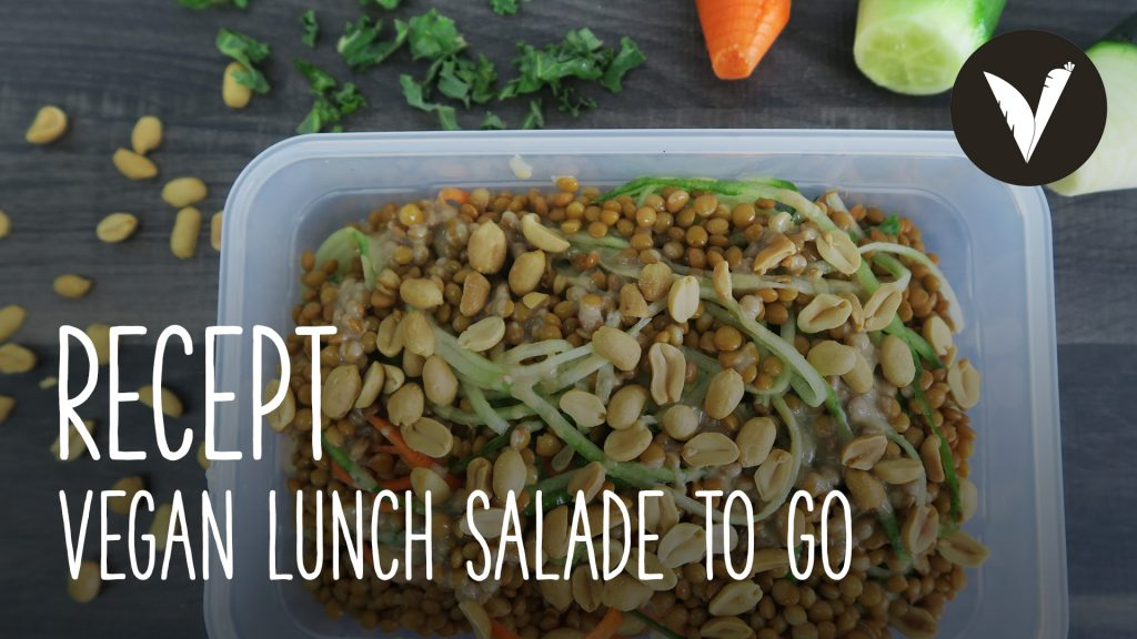 Video Vegan lunch salade to go