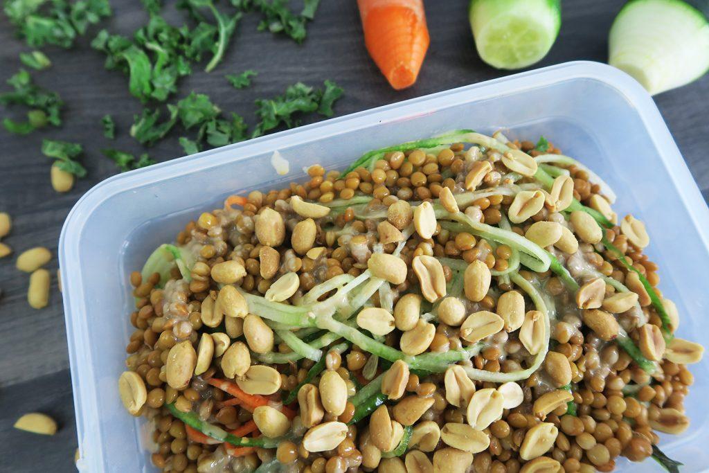 Vegan lunch salade to go