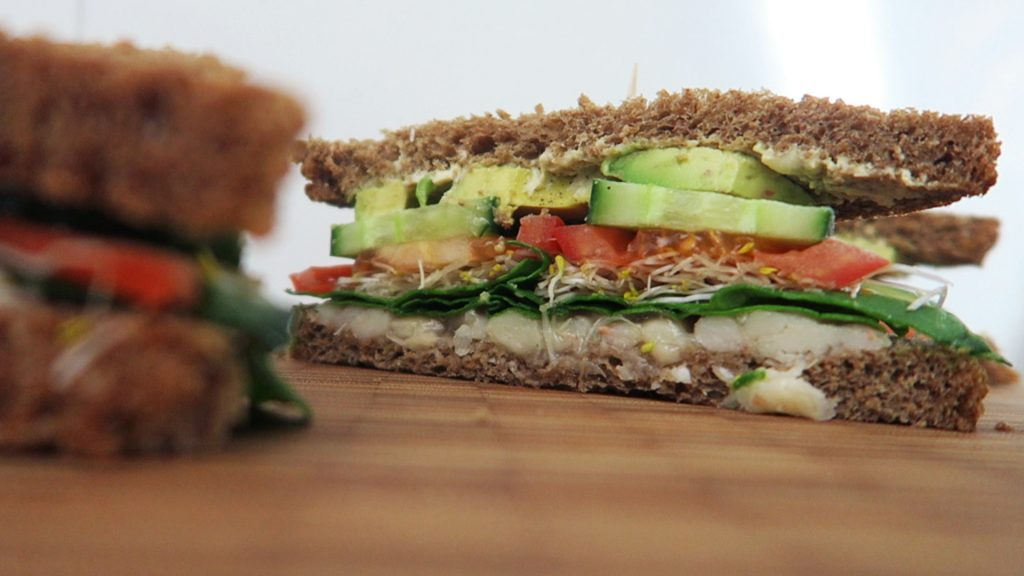 Vegan sandwich recept