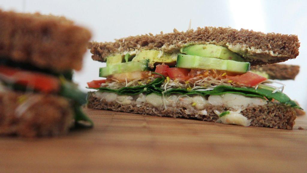 Vegan sandwich recept