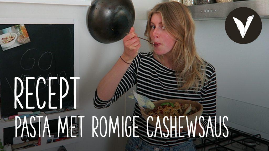 Video Pasta met romige cashewnotensaus