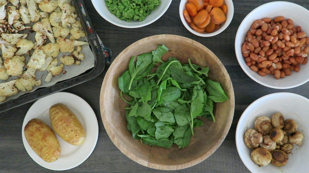 Vegan Hollandse maaltijd bowl