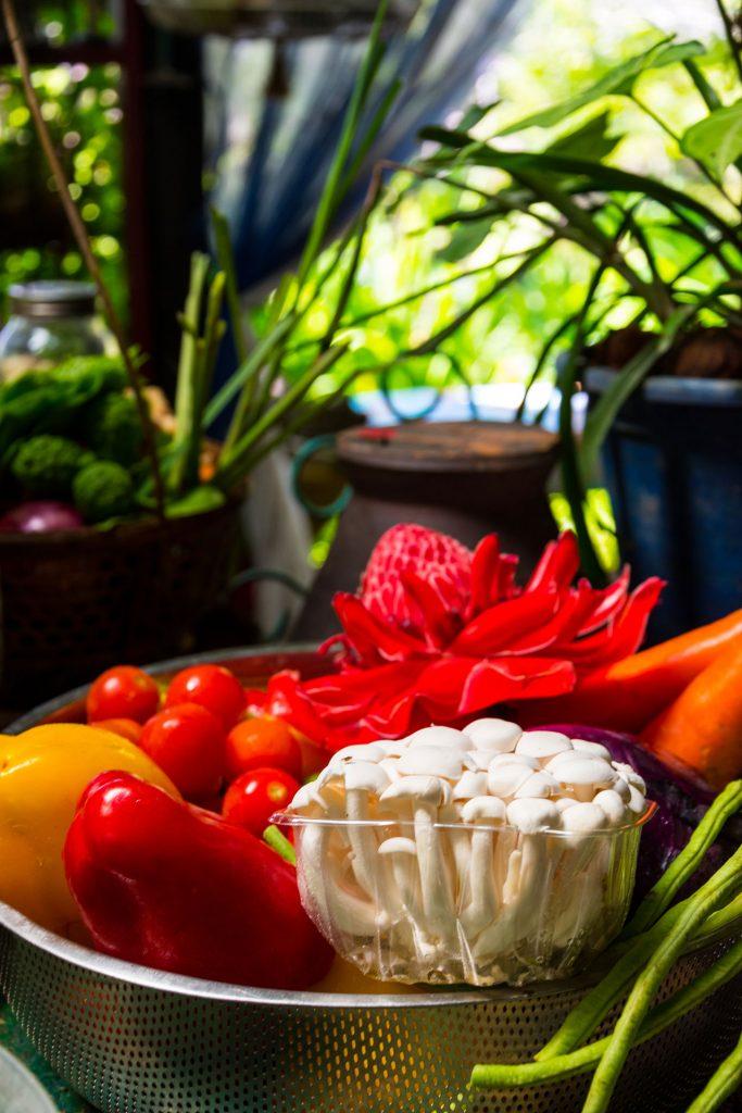 Groente Vegan kookworkshop Pai Thailand