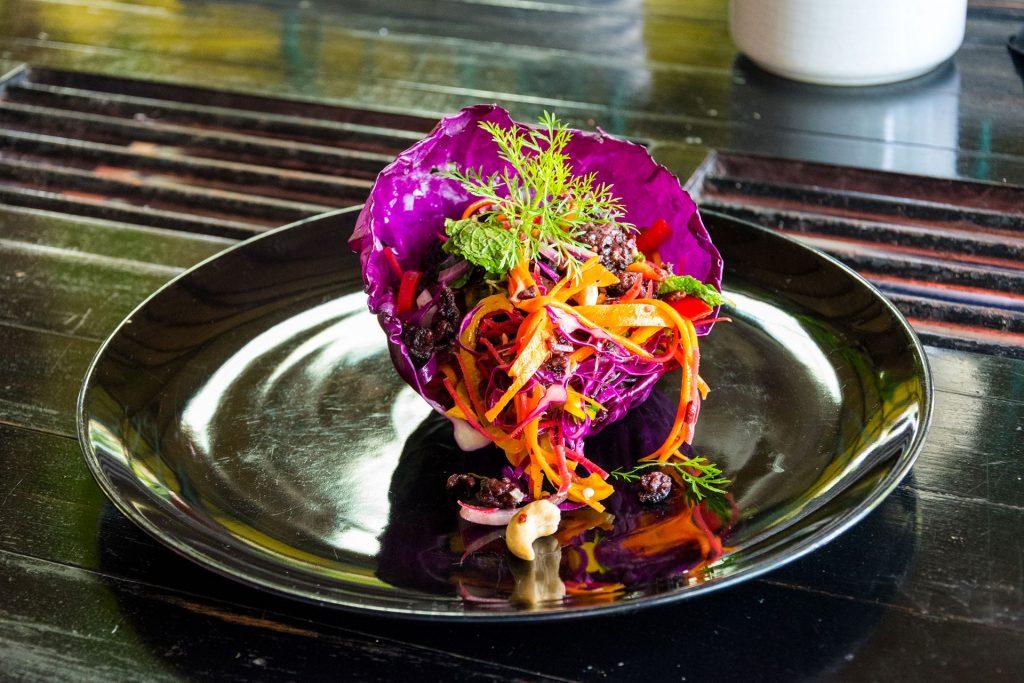 Salade Vegan kookworkshop Pai Thailand