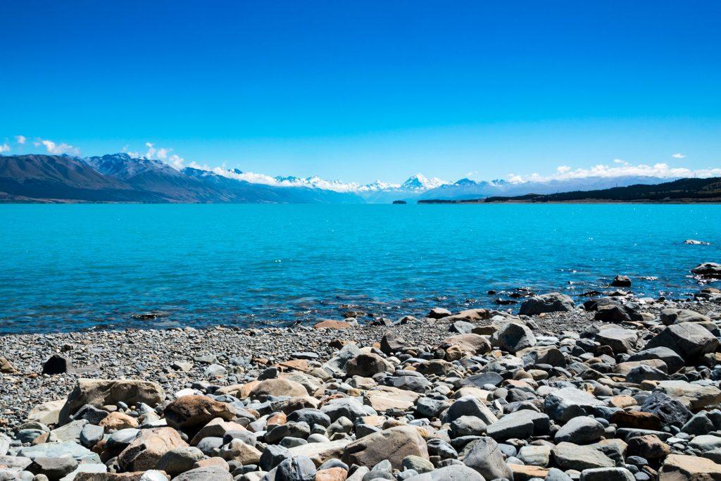 Water Lake Pukaki Nieuw Zeeland