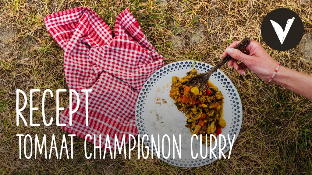 Video Tomaat, champignon curry (camping maaltijd)