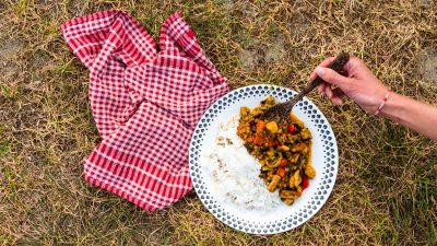 Tomaat champignon curry recept