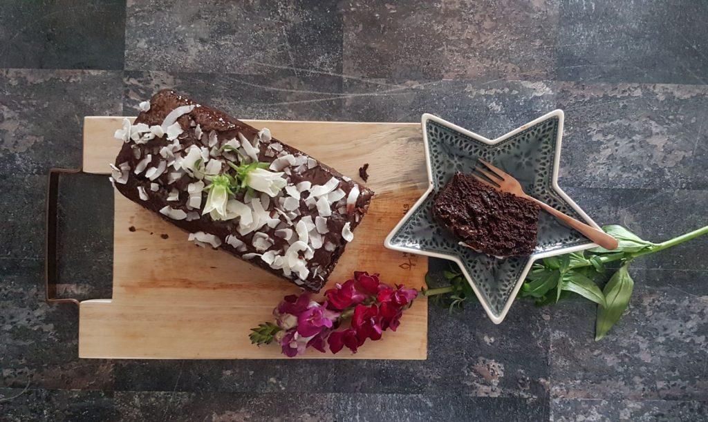 vegan chocolade kokos cake