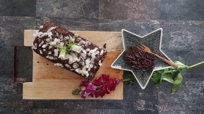 Vegan chocolade cake met kokos