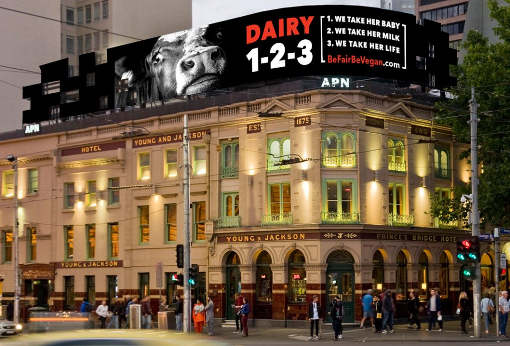 Flinders Street Melbourne Vegan Billboard