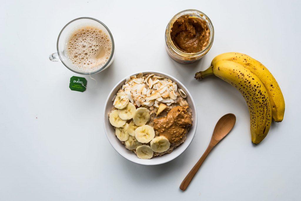 Vegan porridge ontbijt