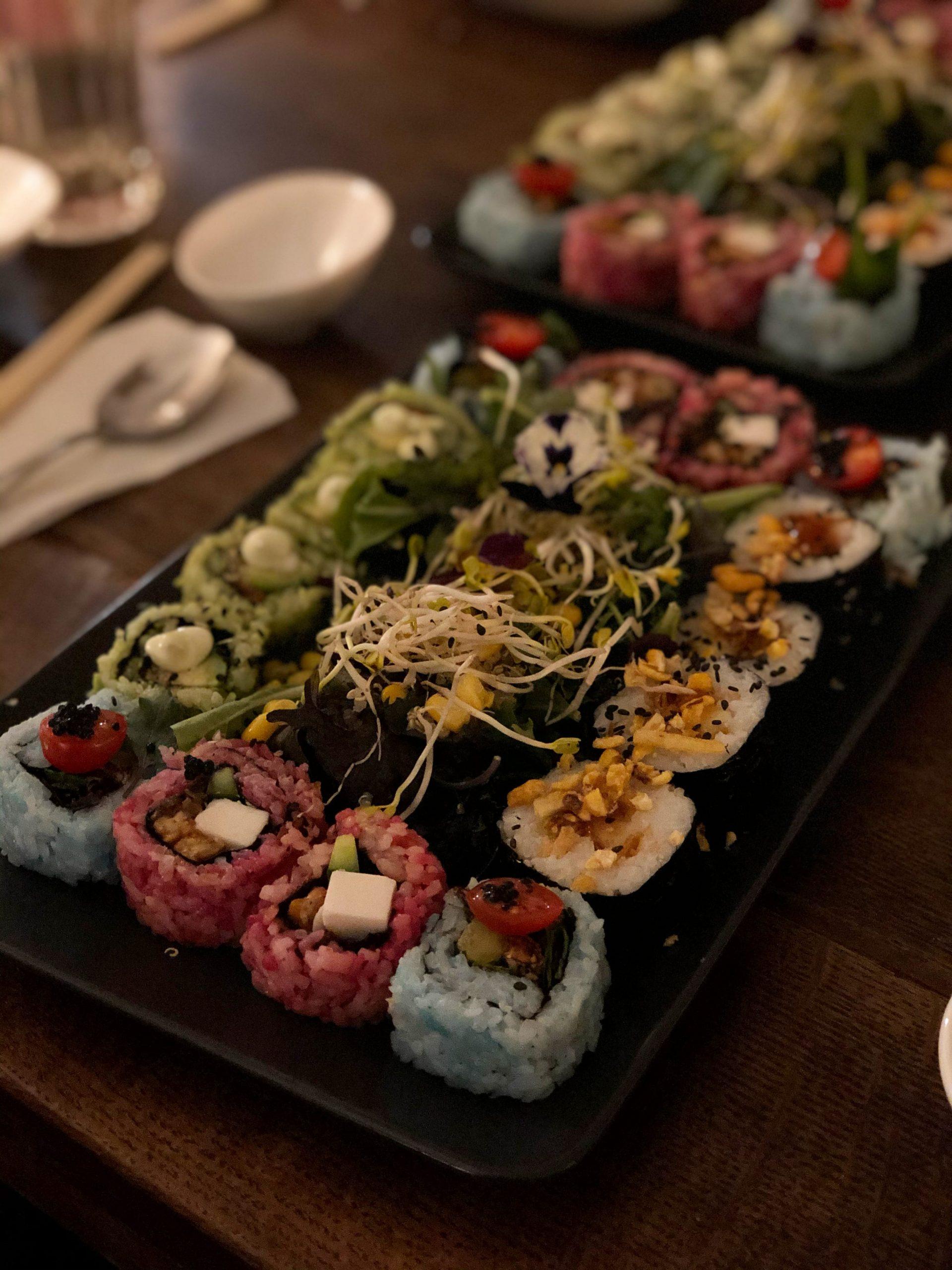 Vegan sushi in Amsterdam