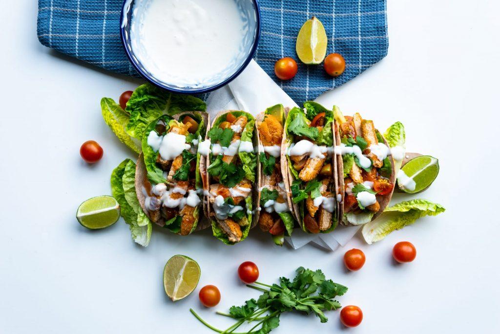 Vegan kip taco's