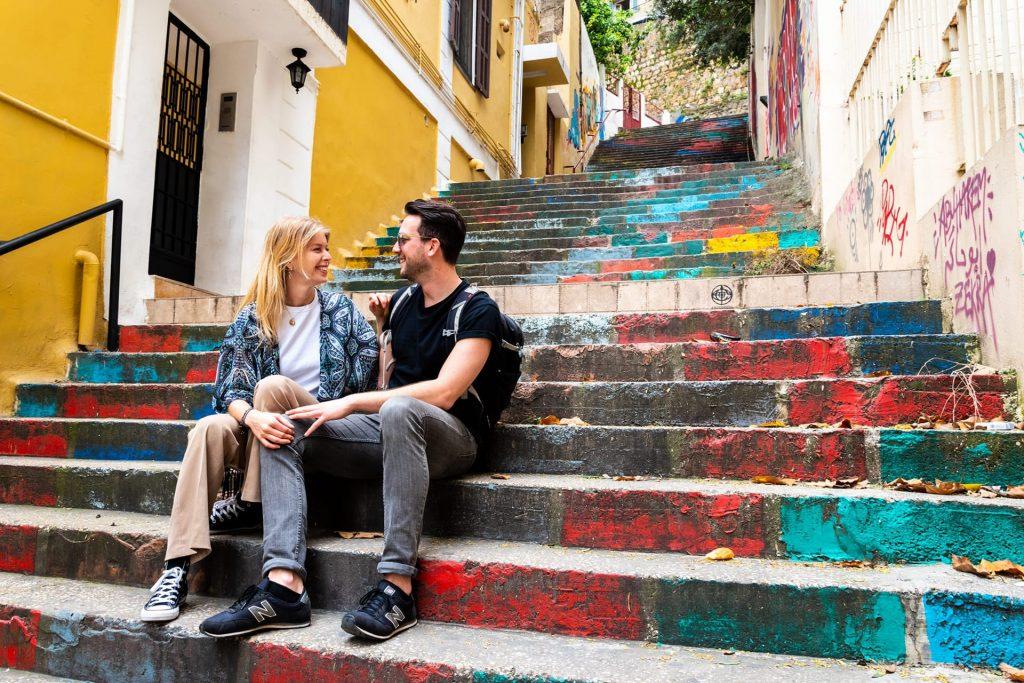 Geschilderde trappen Beiroet
