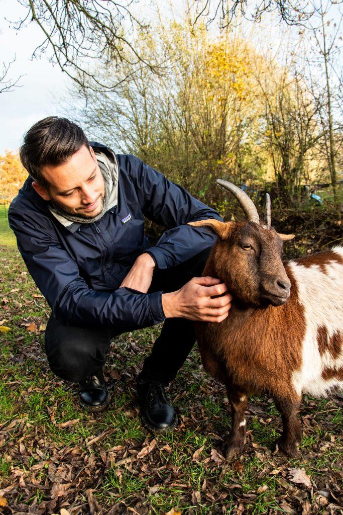 Tristan met een geitje