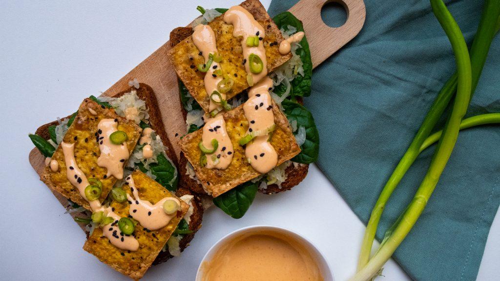 Broodje tofu met zuurkool