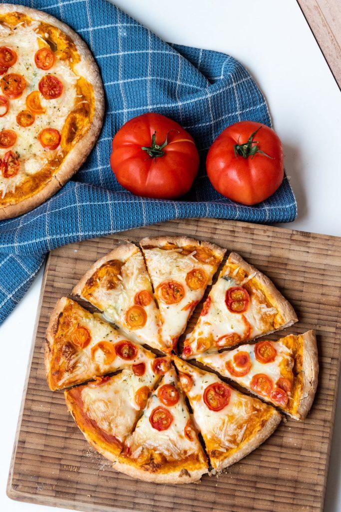 Vegan diepvriespizza