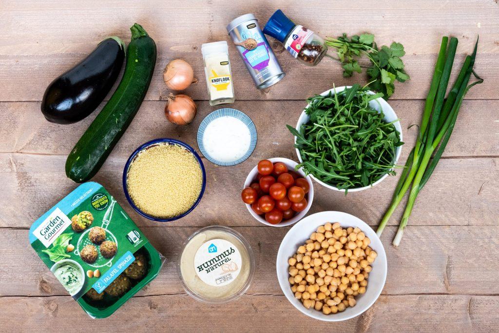 Vegan couscous salade ingrediënten