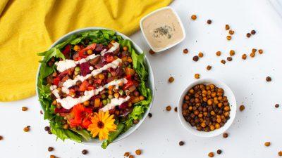 Zomerse vegan salade